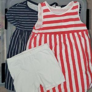 Set of H&M patriotic summer dresses!